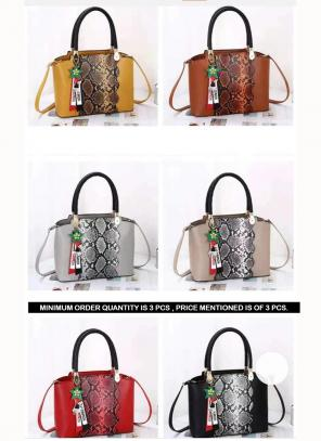 Women Zip Closure Satchel Handbag