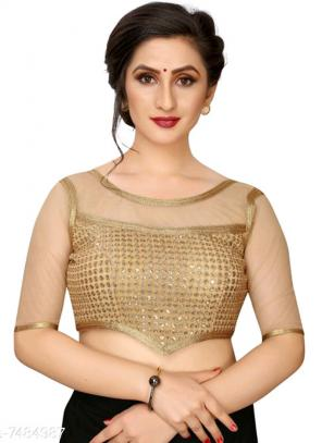 Party Wear Golden Sequins Work Fancy Readymade Blouse