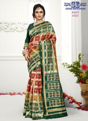 Traditional Wear Red Weaving Soft Silk Saree