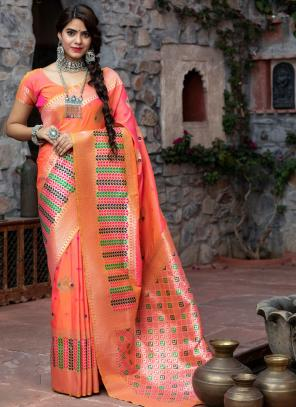 Festival Wear Dark Pink Weaving Silk Saree