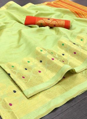 Wedding Wear Sea Green Weaving Silk Saree