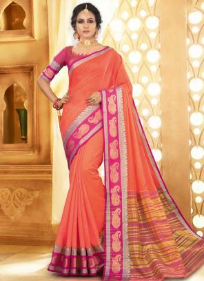 Festival Wear Dark Pink Handloom Khadi Silk Saree