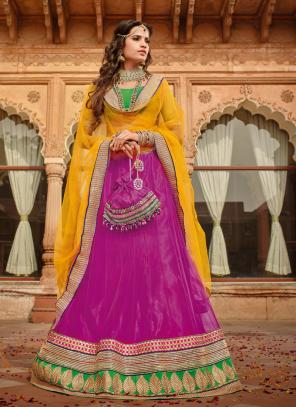 Gorgeous Net Pink Designer Lehenga Choli
