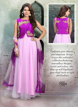 Exceptional Pink Hand Work Anarkali Suit