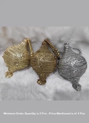 New Beautiful designer Party Wear metal clutch ( Price For 3 Pcs)