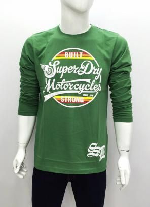 Cotton Plain Casual Wear Green Classy Look T-Shirts