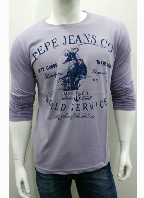 Grey Stylish Casual Wear Cotton Plain T-Shirts
