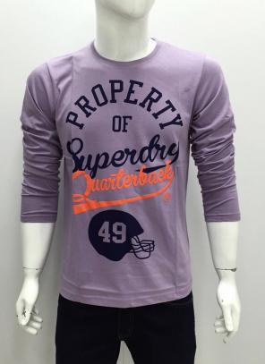 Casual Wear Purple Cotton Plain T-Shirts