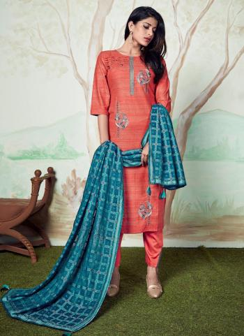 Festival Wear Pink Embroidery Work Pure Pashmina Readymade Salwar Suit