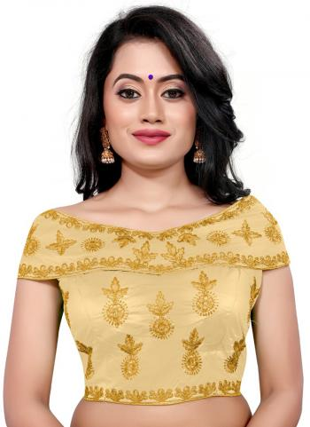 Wedding Wear Golden Embroidery Work Tapeta Silk Blouse