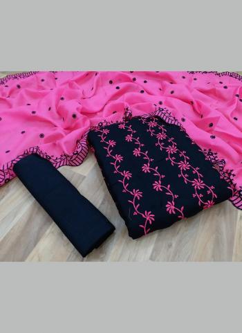 Casual Wear Pink Multi Work Kota Chex Salwar Suit