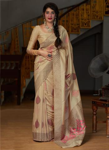 Wedding Wear Golden Weaving Silk Heavy Saree