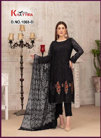 Party Wear Black Embroidery Work Georgette Pakistani Suit