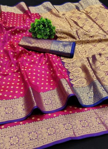 Festival Wear Rani Weaving Lichi Silk Saree