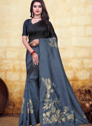 Festival Wear Black Jacquard Banarasi Saree