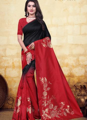 Festival Wear Maroon Jacquard Banarasi Saree