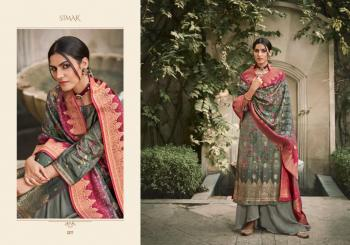 Festival Wear Grey Embroidery Work Dola Jacquard Palazzo Suit