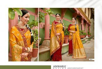 Wedding Wear Yellow Swarovski Work Silk Saree