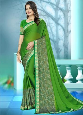 Casual Wear Green Weaving Rangoli Silk Saree