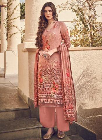 Traditional Wear Dark Pink Digital Printed Pure Viscose Salwar Suit