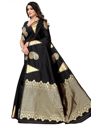 Party Wear Black Era Silk Weaving Saree