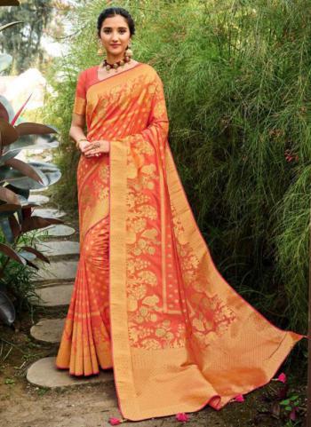 Wedding Wear Light Pink Weaving Silk Saree