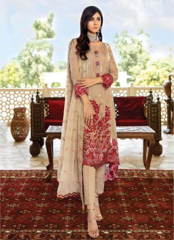 Festival Wear Brown Embroidery Work Georgette Pakistani Suit