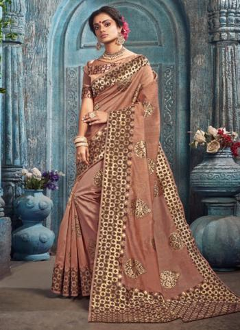 Festival Wear Pink Weaving Spun Kota Saree