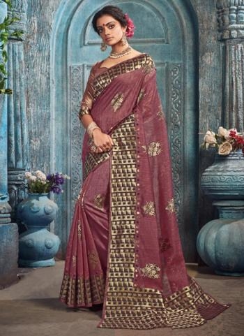 Festival Wear Purple Weaving Spun Kota Saree