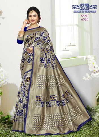 Traditional Wear Blue Weaving Soft Silk Saree