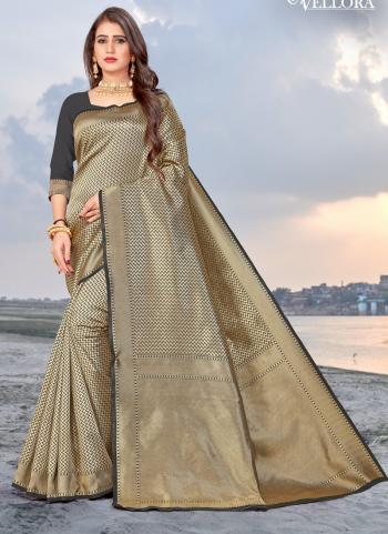 Party Wear Golden Weaving Banarasi Silk Saree