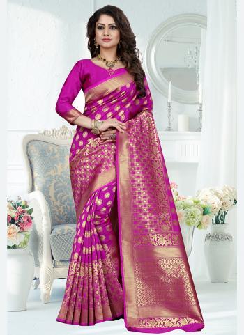 Traditional Wear Rani Weaving Banarasi Silk Saree