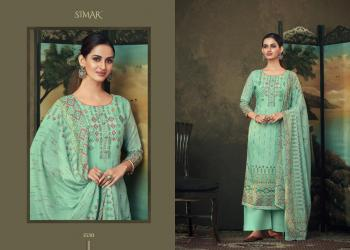 Casual Wear Pista Green Printed Work Cotton Palazzo Suit