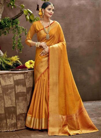 Festival Wear Musterd Weaving Art Silk Saree
