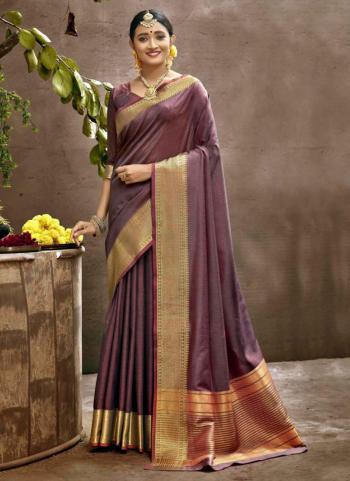 Festival Wear Purple Weaving Art Silk Saree