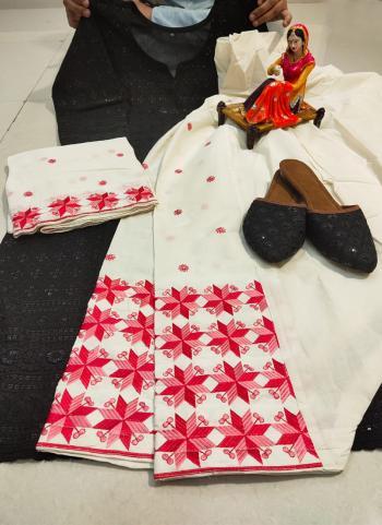 Festival Wear Black Chikan Work Pure Cotton Readymade Salwar Suit
