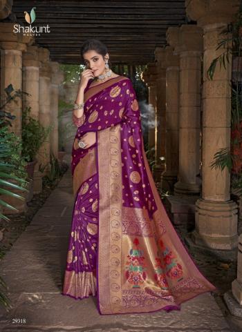 Traditional Wear Purple Weaving Silk Saree