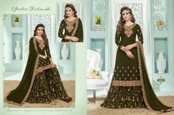 Festival Wear Green Georgette Embroidery Work Sharara Suit