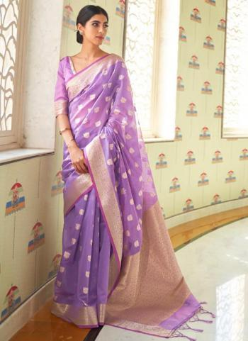 Traditional Wear Purple Pure Modal Weaving Saree