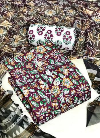 Daily Wear Dark Green Digital Printed Work Cotton Dress Material
