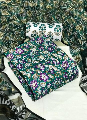 Daily Wear Violet Digital Printed Work Cotton Dress Material