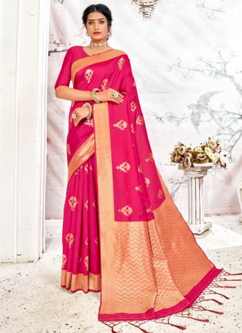 Traditional Wear Violet Weaving Work Fancy Silk Saree