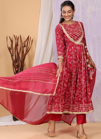 Party Wear Violet Printed Work Cotton Muslin Readymade Salwar Suit