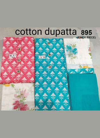 Traditional Wear Sky Blue  Embroidery Work Cotton Dress Material
