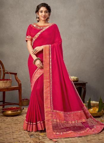 Party Wear Pink  Sequins Work Dual tone Silk georgette Saree