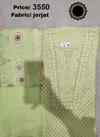 Festival Wear Light Green Embroidery Work Georgette Salwar Suit