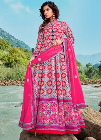 Party Wear Pink Digital Printed Work Killer Silk Readymade Salwar Suit