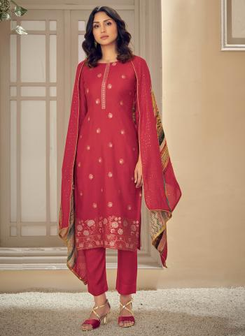 Traditional Wear Pink Sequins Work Pure Muslin Straight Suit