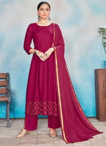 Festival Wear Pink Foil Printed Work Rayon Readymade Anarkali Suit
