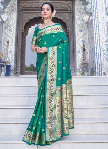 Traditional Wear Green Weaving Work Silk Saree